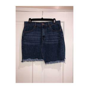 Forever21 Blue asymmetrical jean skirt